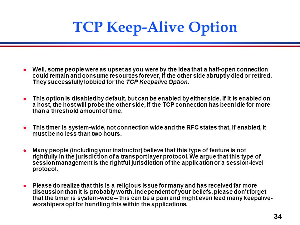 TCP Keep-Alive Option