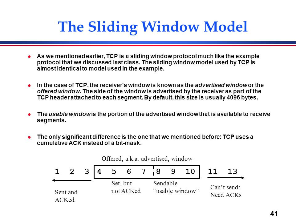 The Sliding Window Model