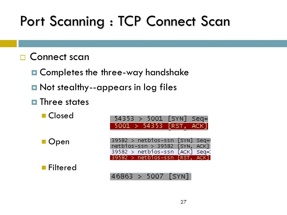 Port Scanning : TCP Connect Scan
