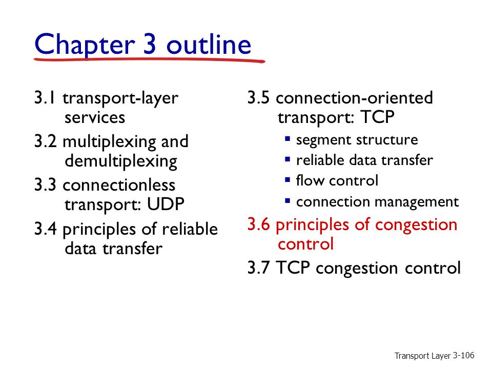 Chapter 3 outline 3.1 transport-layer services