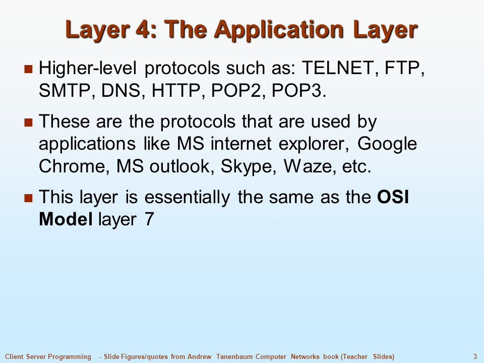 Layer 4: The Application Layer