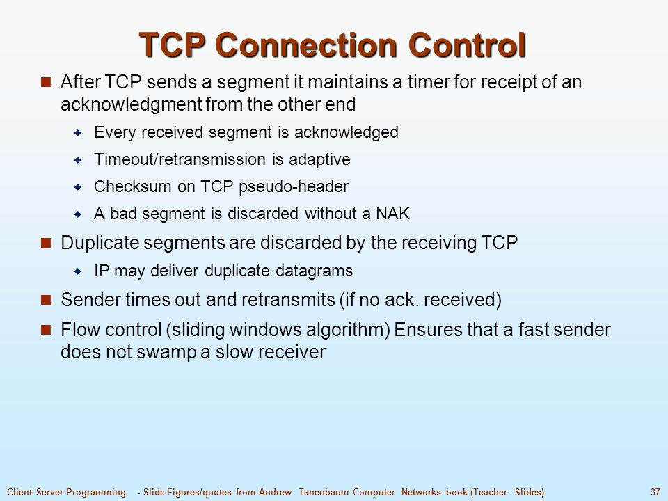 TCP Connection Control