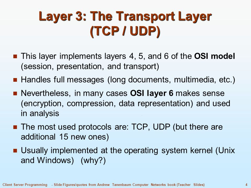 Layer 3: The Transport Layer (TCP / UDP)