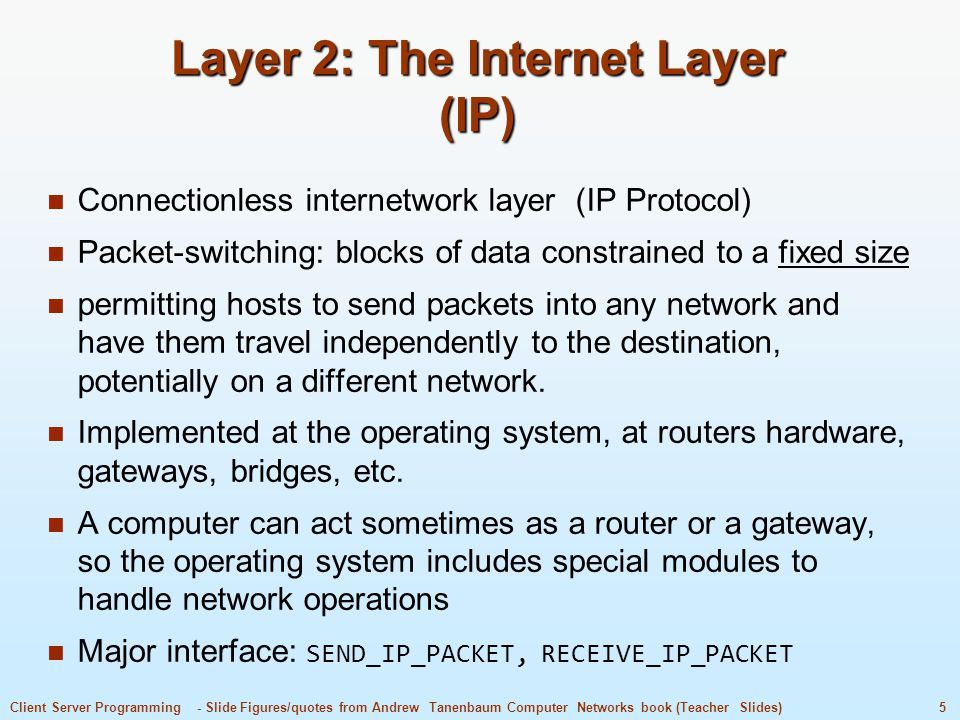 Layer 2: The Internet Layer (IP)
