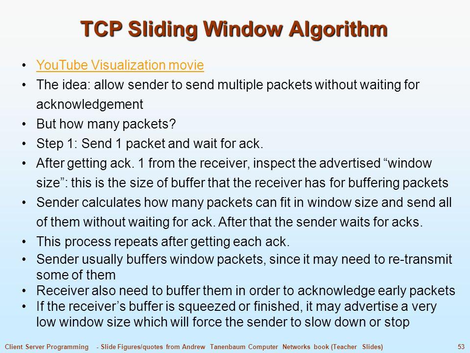 TCP Sliding Window Algorithm