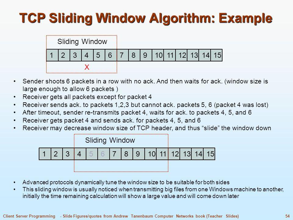 TCP Sliding Window Algorithm: Example