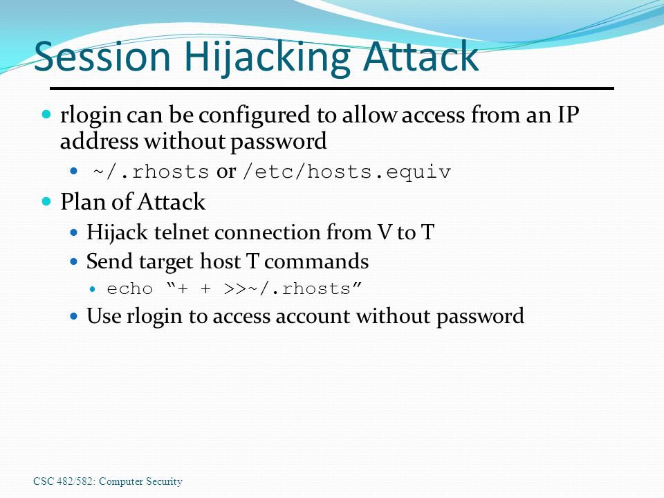 Session Hijacking Attack