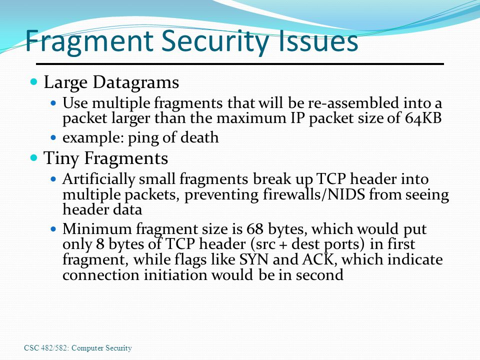 Fragment Security Issues