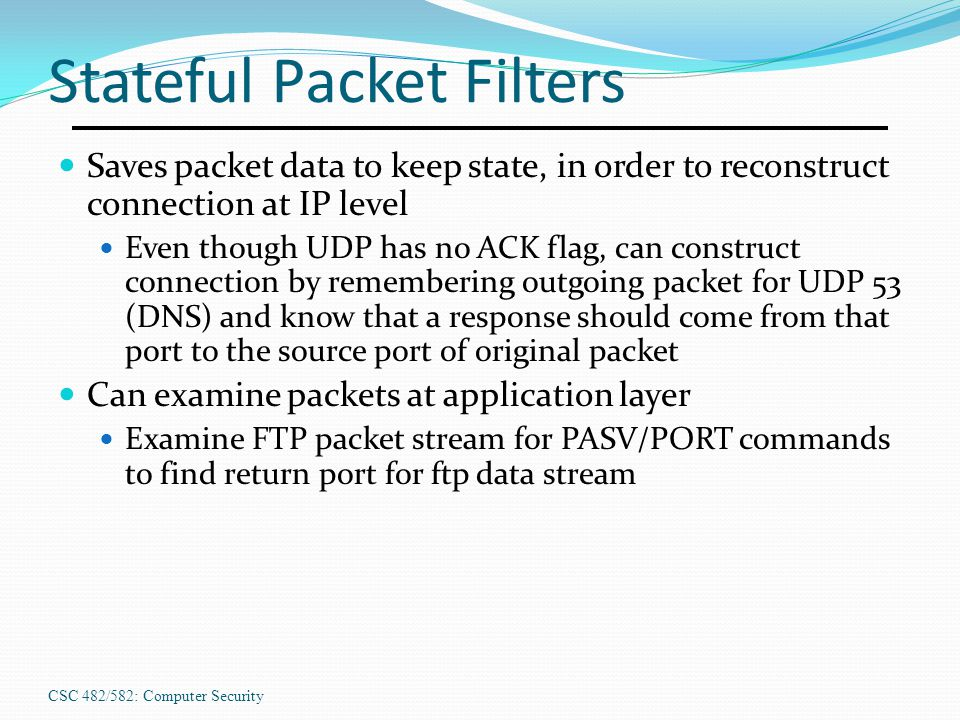 Stateful Packet Filters