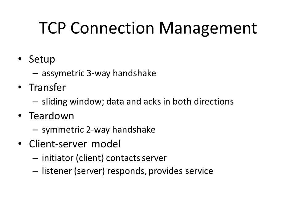 TCP Connection Management