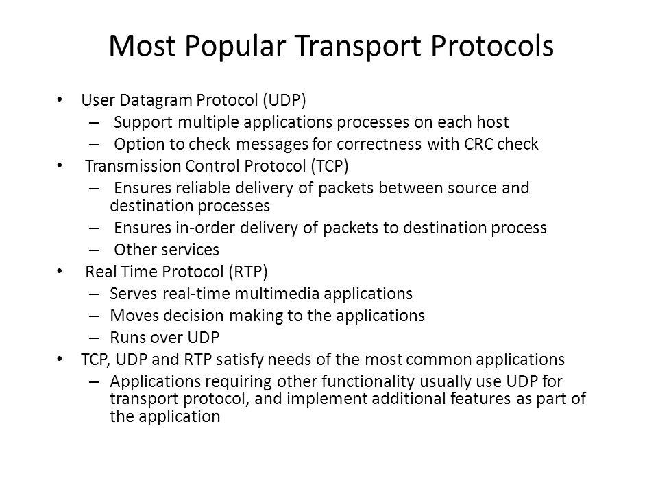 Most Popular Transport Protocols