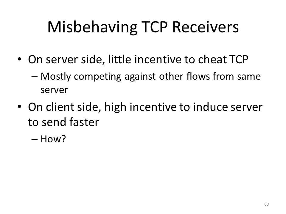 Misbehaving TCP Receivers