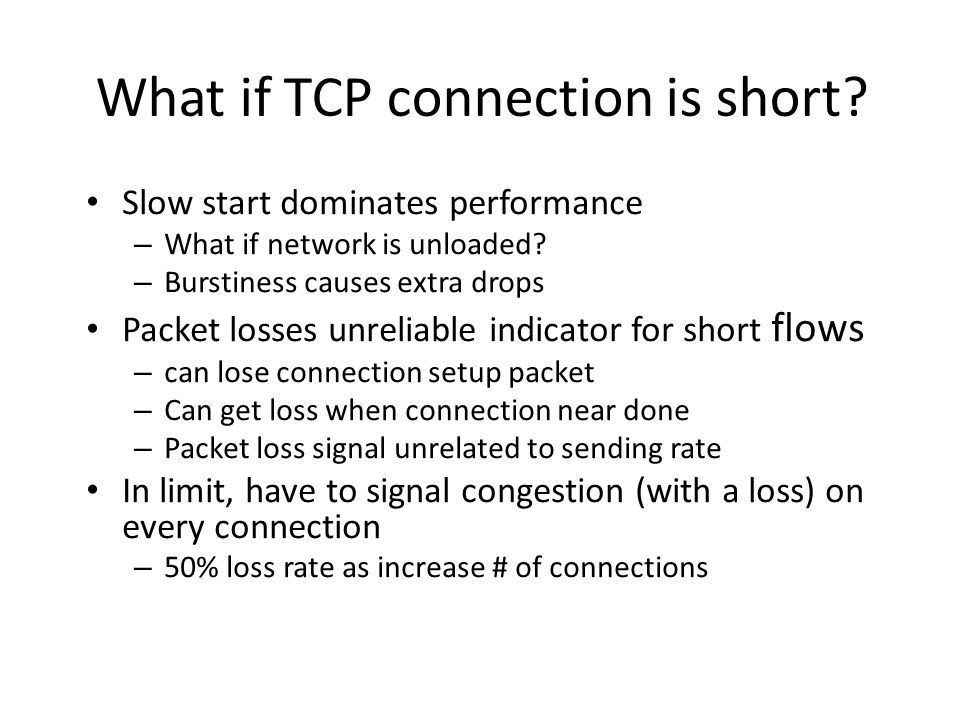 What if TCP connection is short
