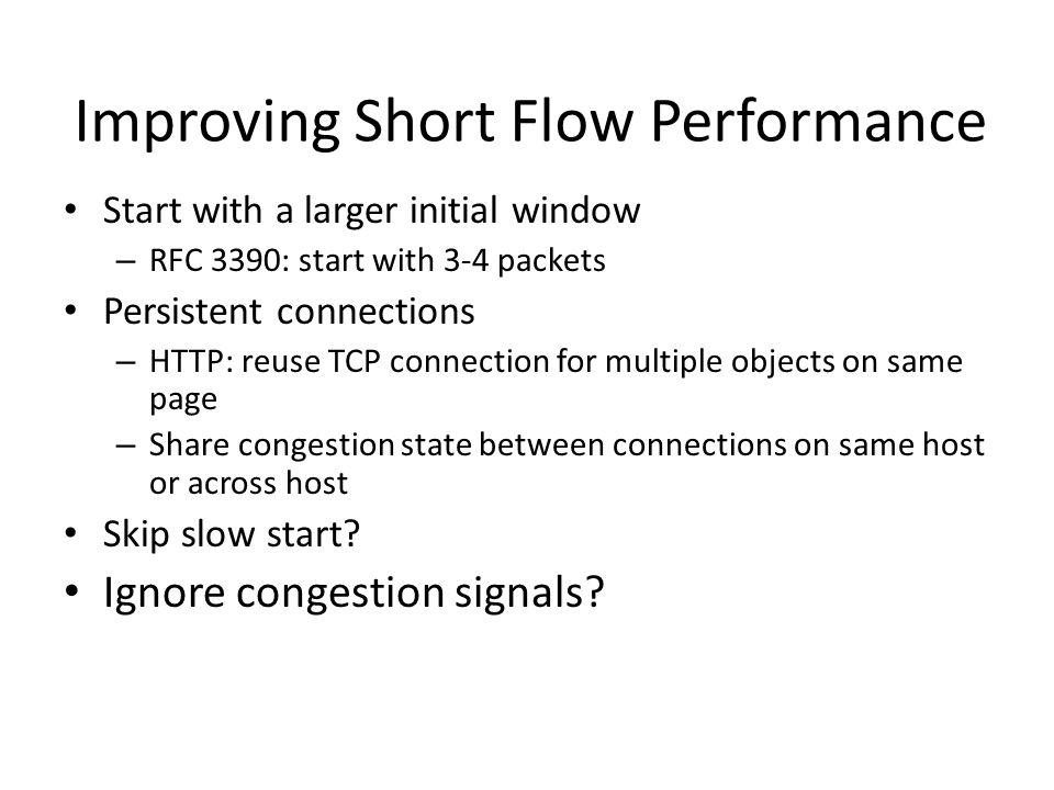 Improving Short Flow Performance