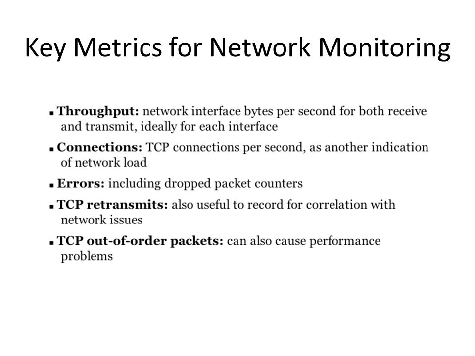 Key Metrics for Network Monitoring