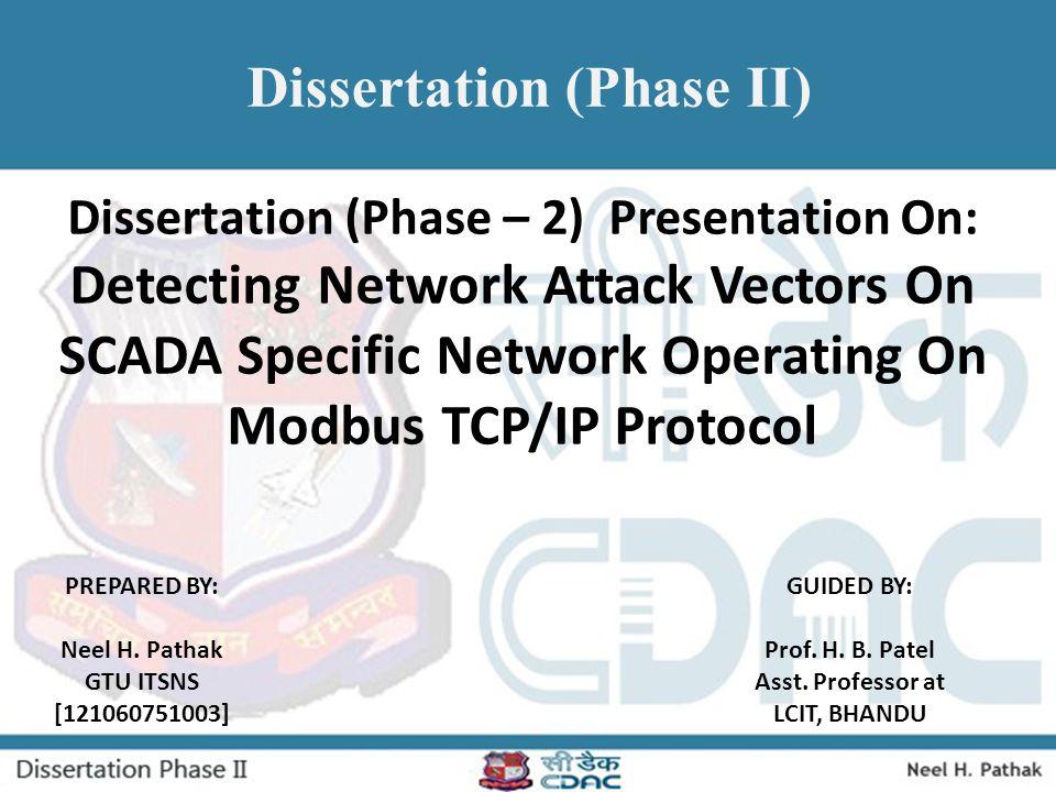 Dissertation (Phase II)