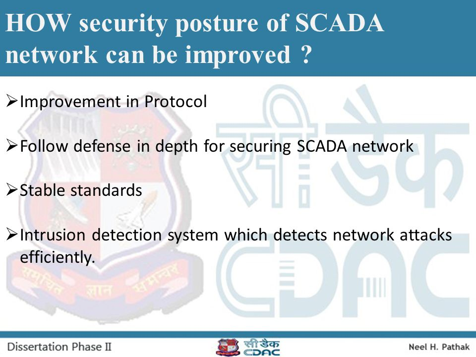 HOW security posture of SCADA network can be improved