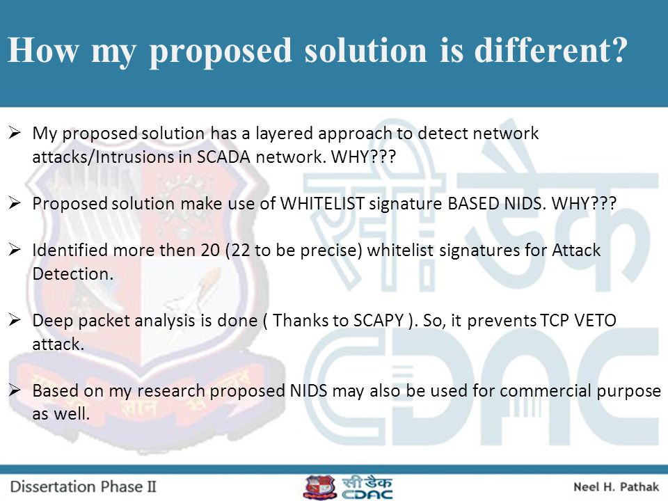 How my proposed solution is different