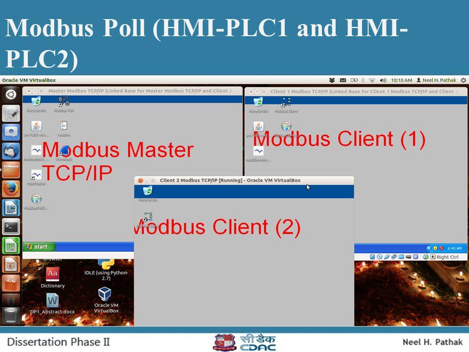 Modbus Poll (HMI-PLC1 and HMI-PLC2)