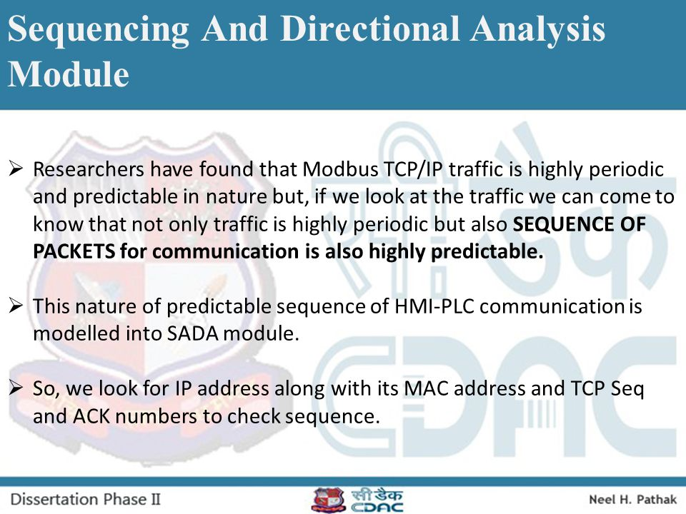 Sequencing And Directional Analysis Module