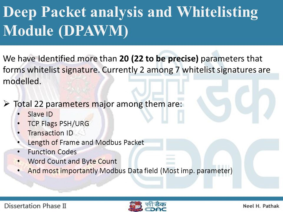 Deep Packet analysis and Whitelisting Module (DPAWM)