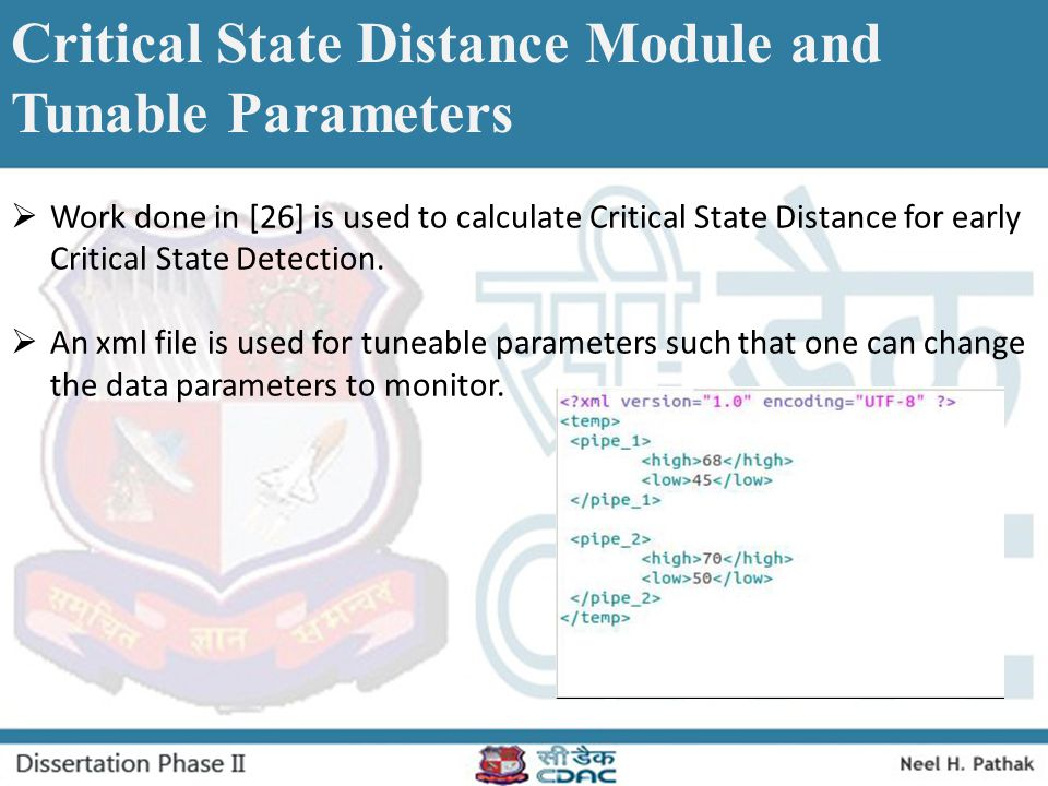 Critical State Distance Module and Tunable Parameters