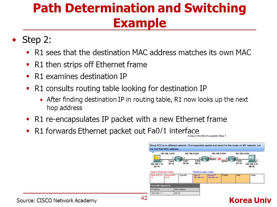 Path Determination and Switching Example