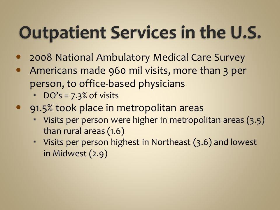 Outpatient Services in the U.S.