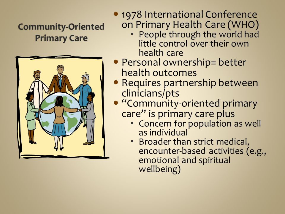 Community-Oriented Primary Care