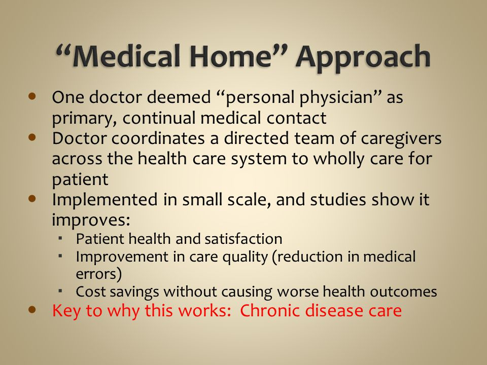Medical Home Approach