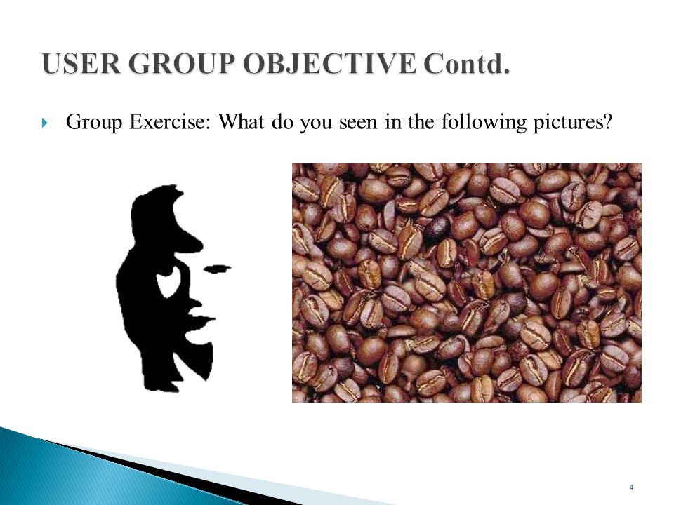 USER GROUP OBJECTIVE Contd.