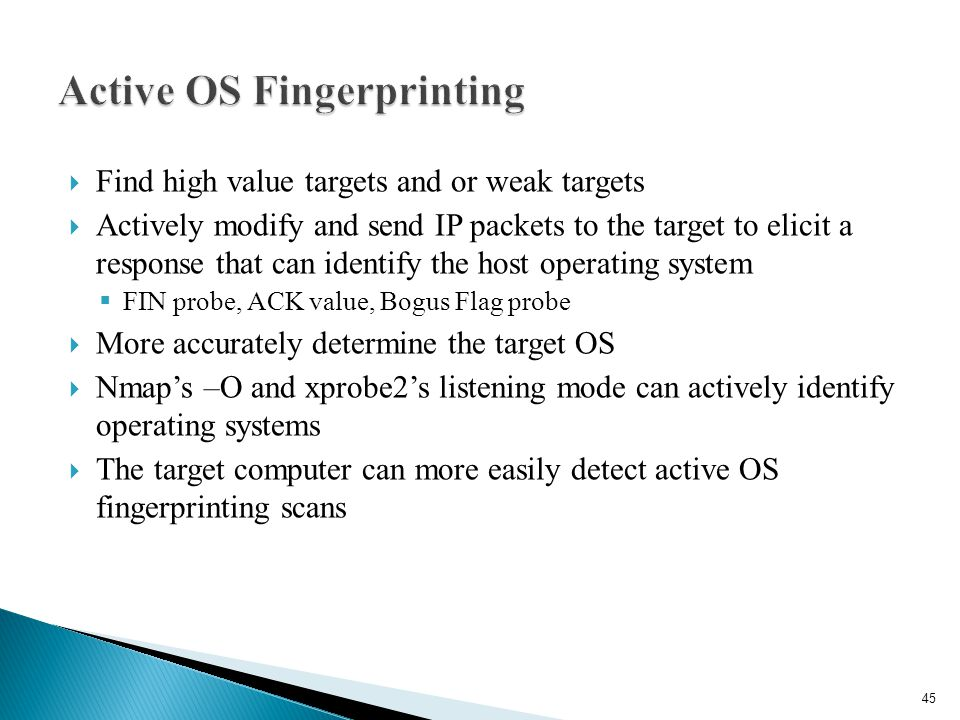 Active OS Fingerprinting