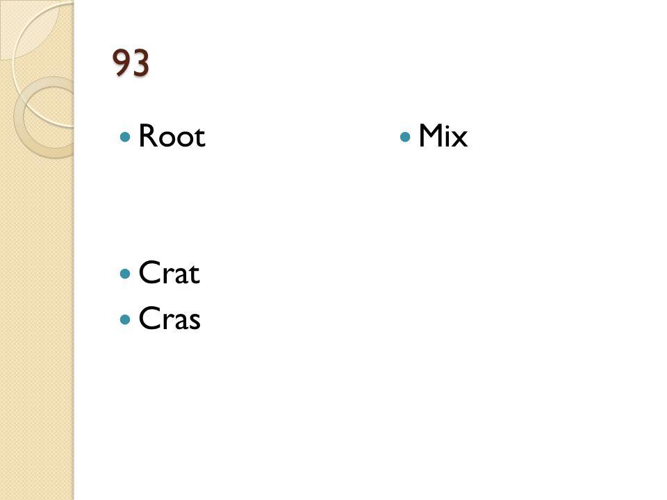 93 Root Crat Cras Mix