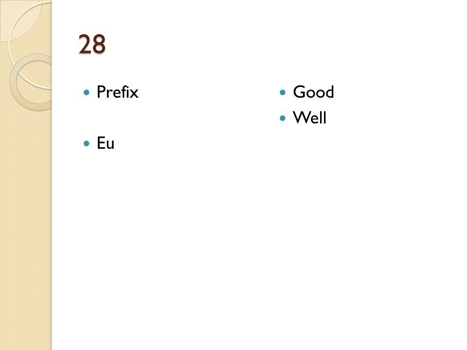 28 Prefix Eu Good Well