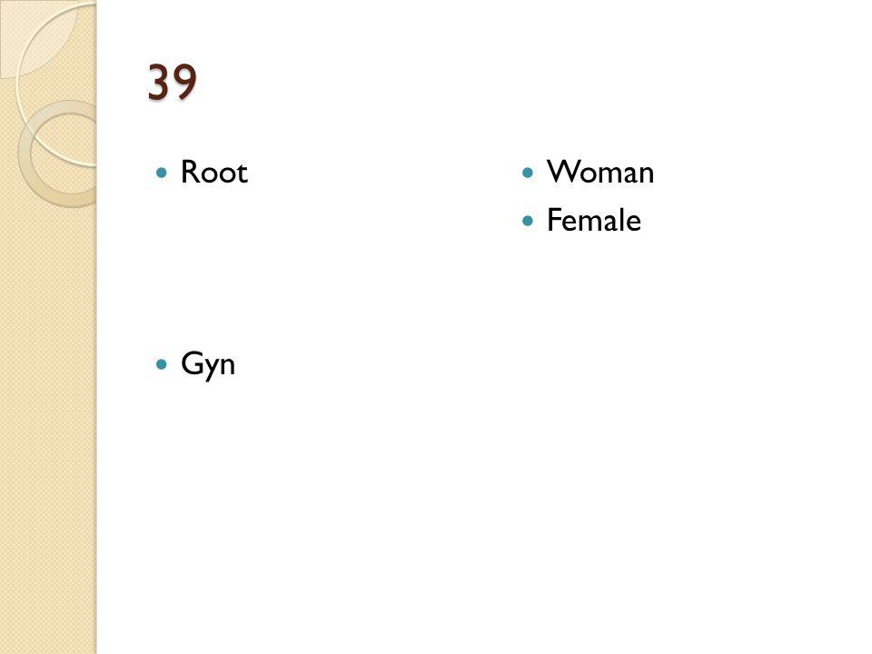 39 Root Gyn Woman Female