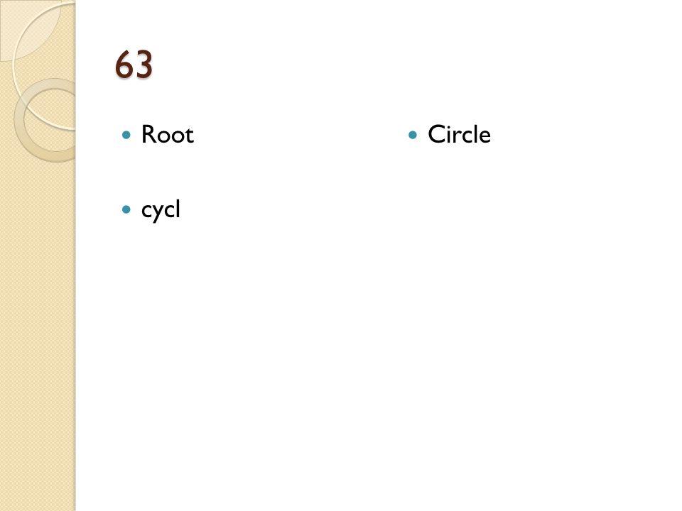 63 Root cycl Circle