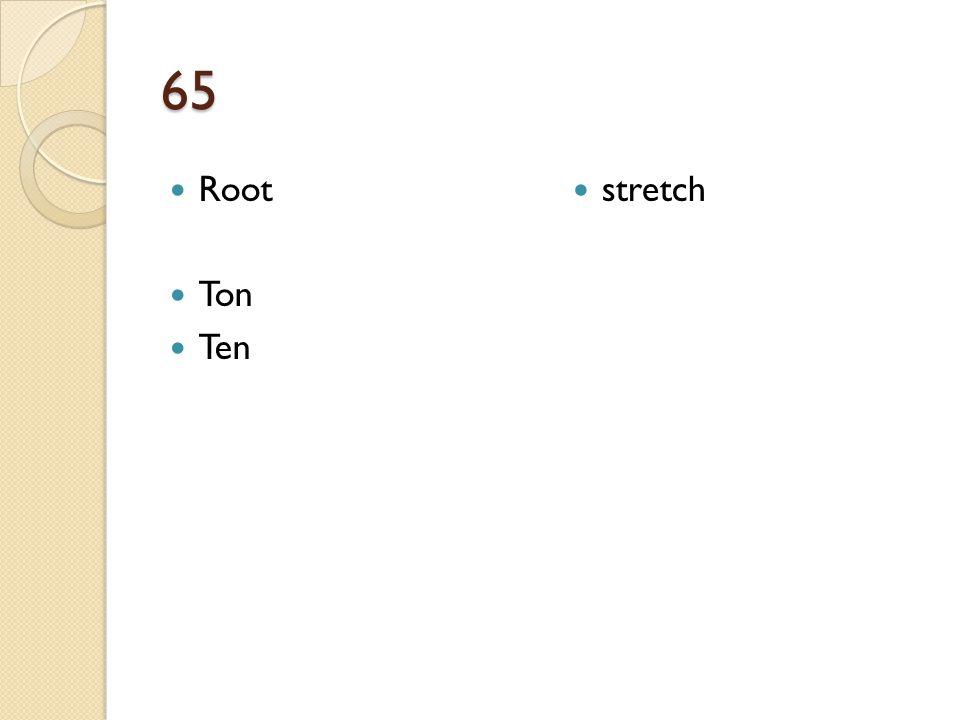 65 Root Ton Ten stretch