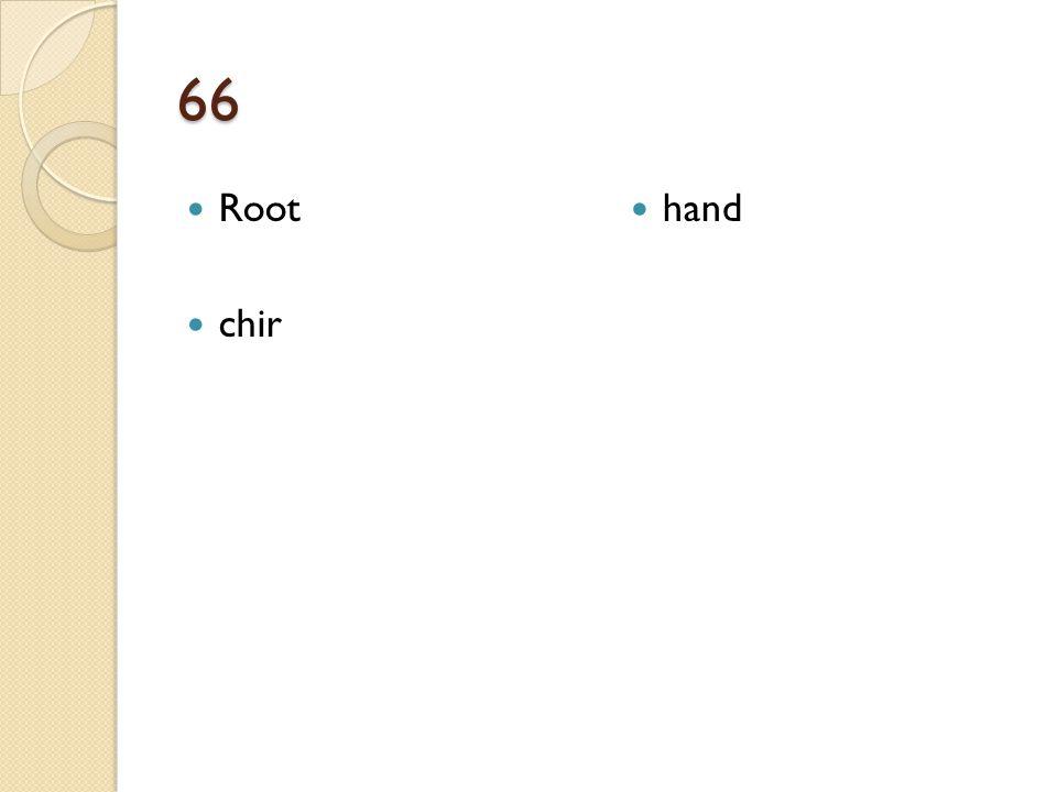 66 Root chir hand