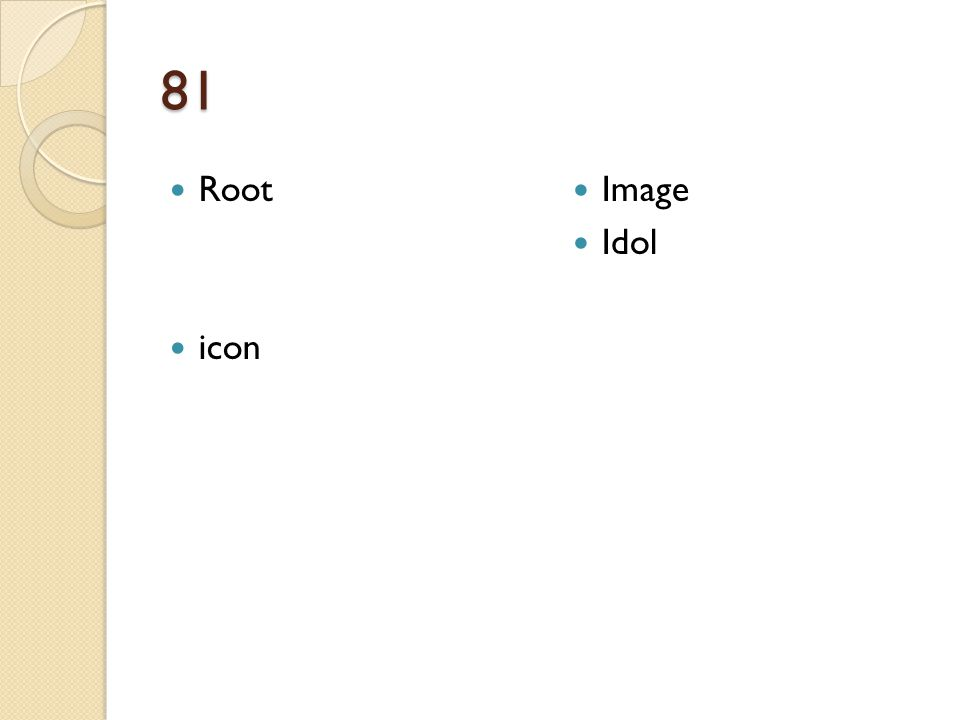 81 Root icon Image Idol