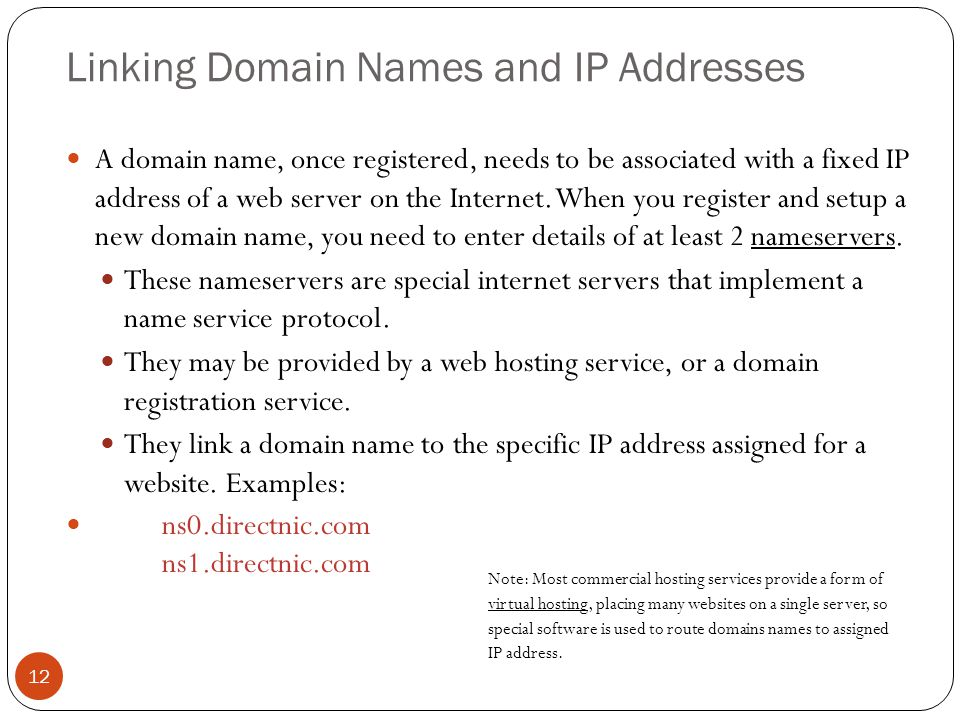 Linking Domain Names and IP Addresses