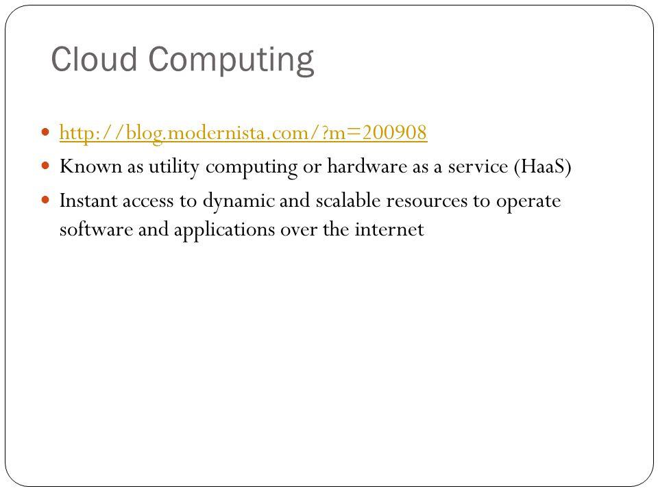 Cloud Computing http://blog.modernista.com/ m=200908