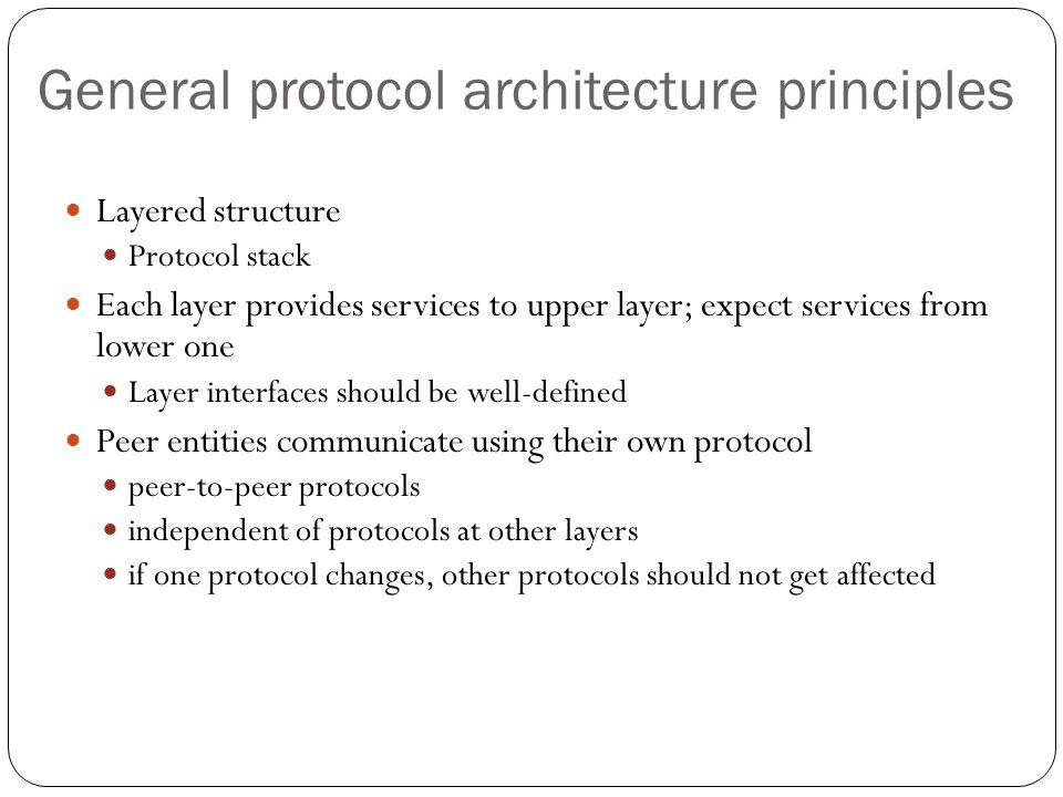 General protocol architecture principles