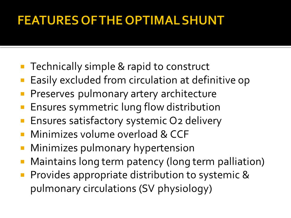 FEATURES OF THE OPTIMAL SHUNT