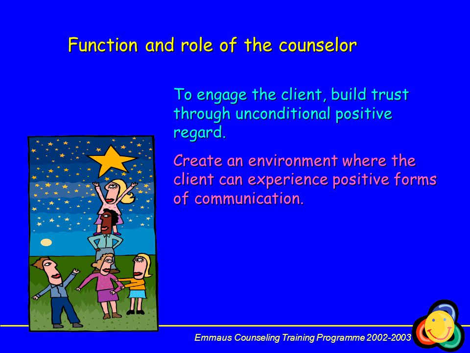 Function and role of the counselor
