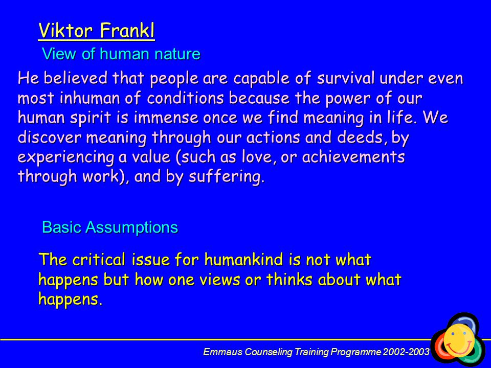 Viktor Frankl View of human nature