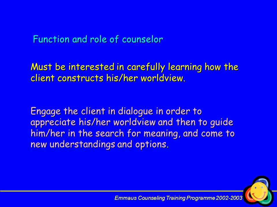 Function and role of counselor