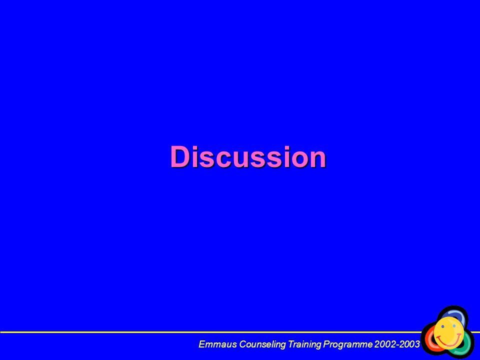 Discussion Emmaus Counseling Training Programme 2002-2003