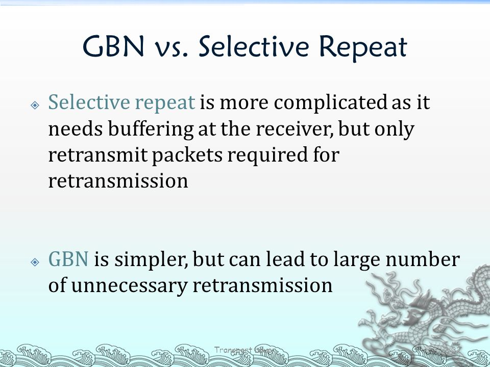 GBN vs. Selective Repeat