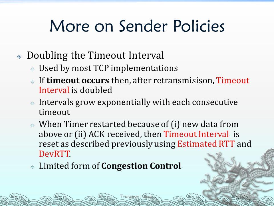 More on Sender Policies