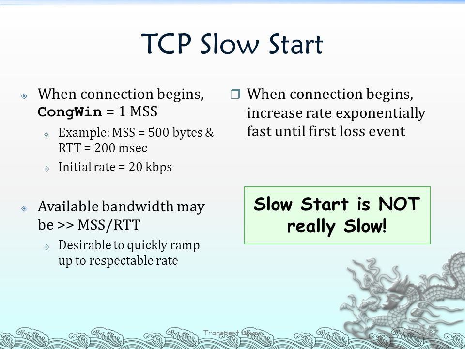 Slow Start is NOT really Slow!
